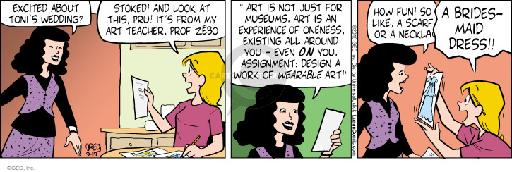 Cartoonist Greg Evans  Luann 2016-09-19 fun