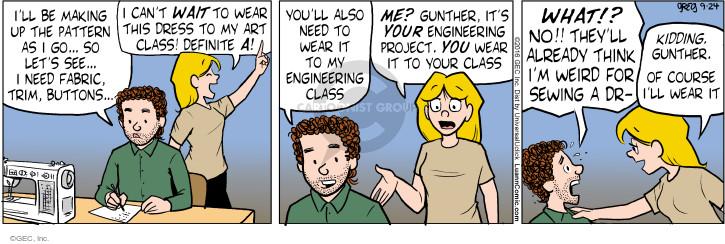 Comic Strip Greg Evans  Luann 2016-09-24 design