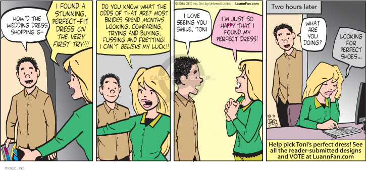 Comic Strip Greg Evans  Luann 2016-10-09 pick