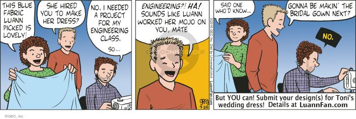 Comic Strip Greg Evans  Luann 2016-09-26 design
