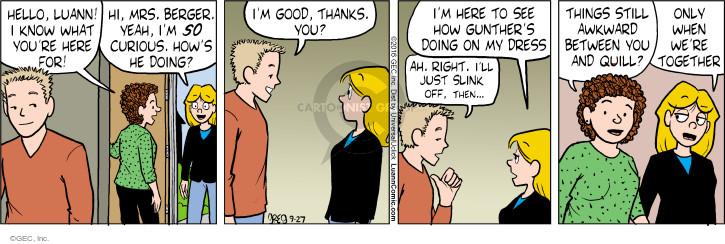 Comic Strip Greg Evans  Luann 2016-09-27 Gunther