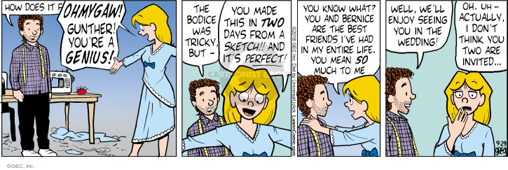 Comic Strip Greg Evans  Luann 2016-09-29 wedding ceremony