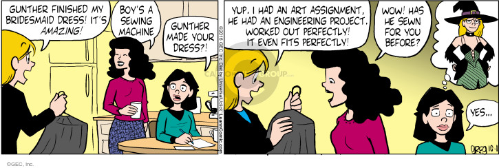 Comic Strip Greg Evans  Luann 2016-10-01 Gunther