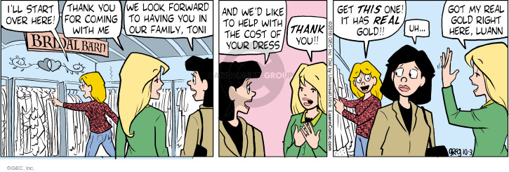 Comic Strip Greg Evans  Luann 2016-10-03 expensive