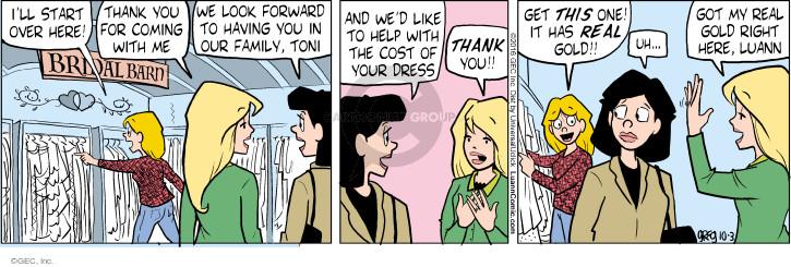 Comic Strip Greg Evans  Luann 2016-10-03 shop