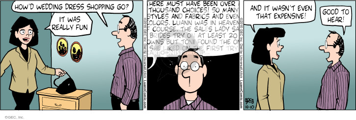 Comic Strip Greg Evans  Luann 2016-10-10 expensive