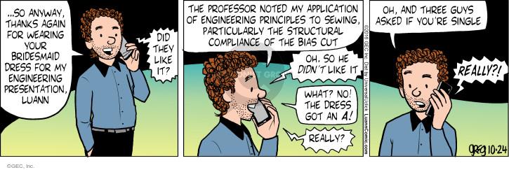 Comic Strip Greg Evans  Luann 2016-10-24 note