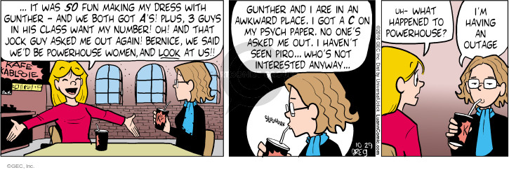 Comic Strip Greg Evans  Luann 2016-10-29 place