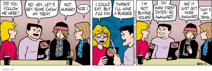 Comic Strip Greg Evans  Luann 2016-11-04 awkward