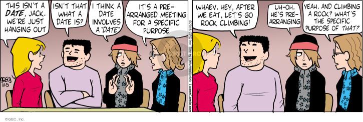 Comic Strip Greg Evans  Luann 2016-11-05 eating out
