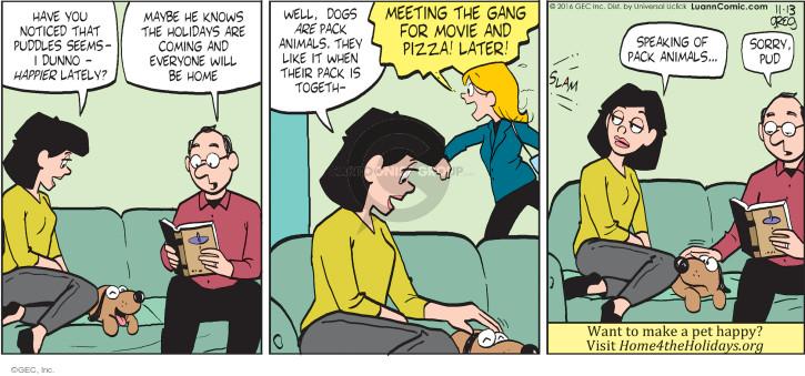 Comic Strip Greg Evans  Luann 2016-11-13 dog