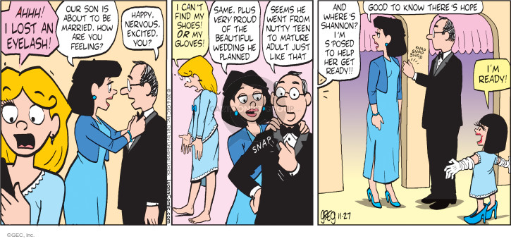Comic Strip Greg Evans  Luann 2016-11-27 wedding