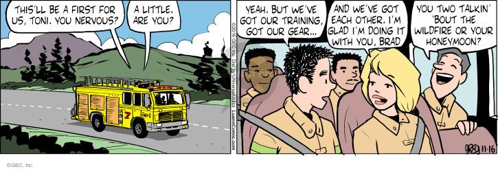 Comic Strip Greg Evans  Luann 2016-11-16 fire