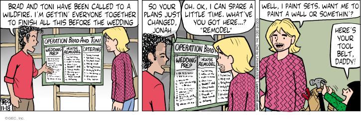 Comic Strip Greg Evans  Luann 2016-11-18 fire