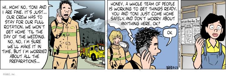 Comic Strip Greg Evans  Luann 2016-11-23 fire