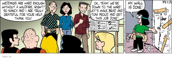 Comic Strip Greg Evans  Luann 2016-11-24 fire