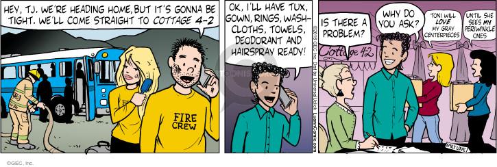 Comic Strip Greg Evans  Luann 2016-11-26 fire