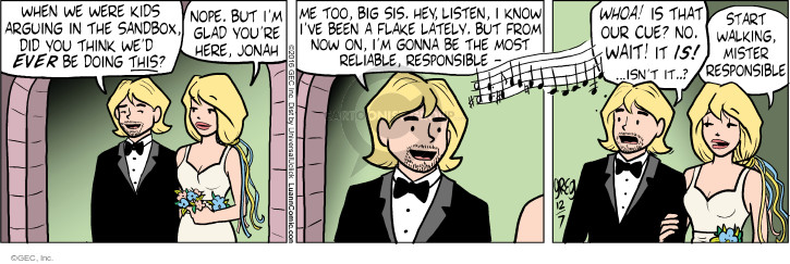 Comic Strip Greg Evans  Luann 2016-12-07 wedding ceremony