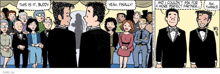 Comic Strip Greg Evans  Luann 2016-12-08 wedding ceremony