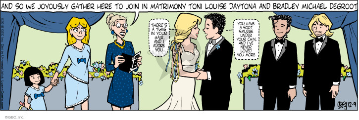 Comic Strip Greg Evans  Luann 2016-12-09 wedding ceremony