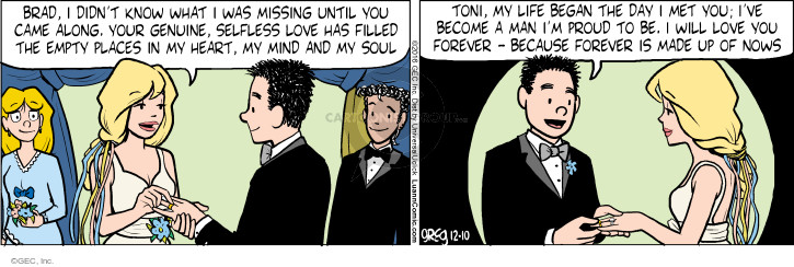 Comic Strip Greg Evans  Luann 2016-12-10 wedding ceremony