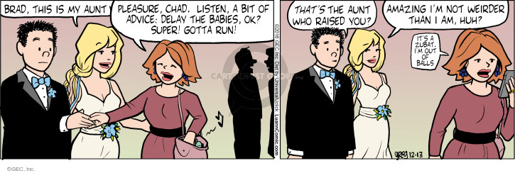 Comic Strip Greg Evans  Luann 2016-12-13 bride and groom