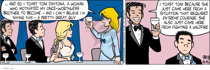 Comic Strip Greg Evans  Luann 2016-12-15 fire
