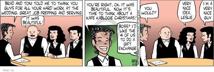 Comic Strip Greg Evans  Luann 2016-12-19 wedding