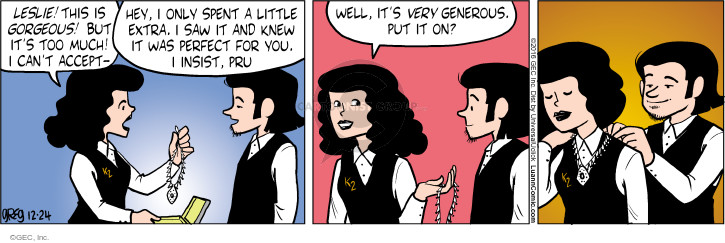 Comic Strip Greg Evans  Luann 2016-12-24 necklace
