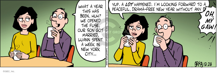 Comic Strip Greg Evans  Luann 2016-12-28 New Year