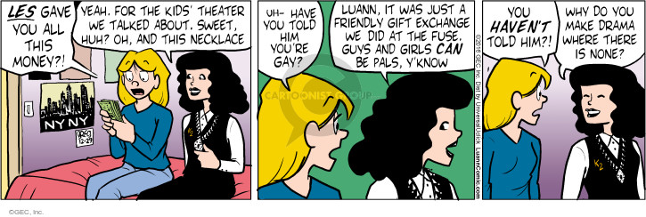 Comic Strip Greg Evans  Luann 2016-12-29 gift