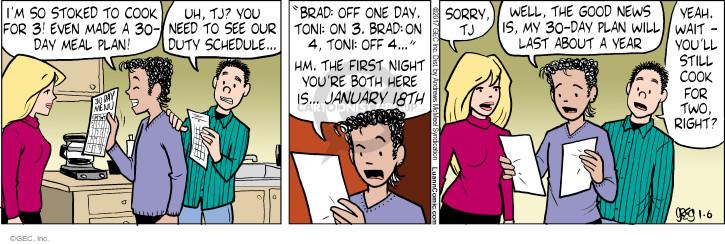 Comic Strip Greg Evans  Luann 2017-01-06 meal