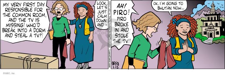 Comic Strip Greg Evans  Luann 2017-01-12 accusation