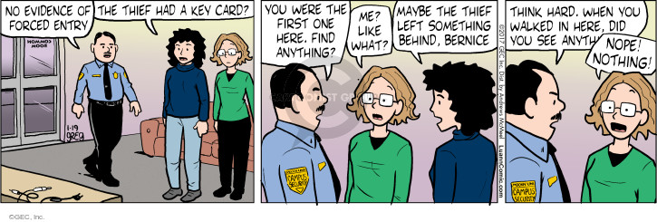 Comic Strip Greg Evans  Luann 2017-01-19 law enforcement