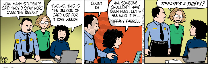 Comic Strip Greg Evans  Luann 2017-01-20 record