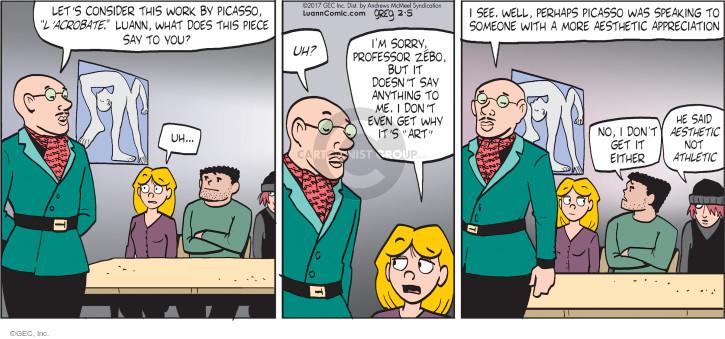 Comic Strip Greg Evans  Luann 2017-02-05 student