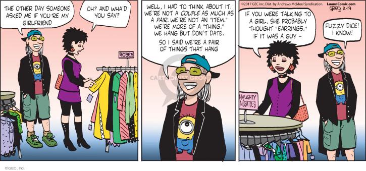 Comic Strip Greg Evans  Luann 2017-02-19 male