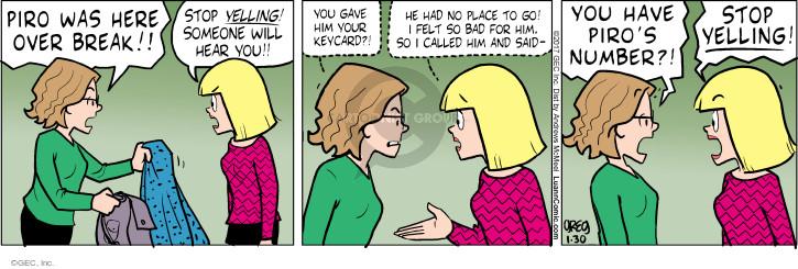 Comic Strip Greg Evans  Luann 2017-01-30 call