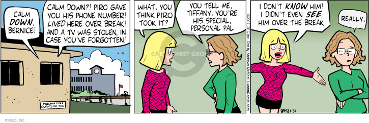 Comic Strip Greg Evans  Luann 2017-01-31 stolen