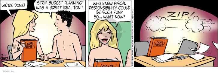 Comic Strip Greg Evans  Luann 2017-02-11 fiscal