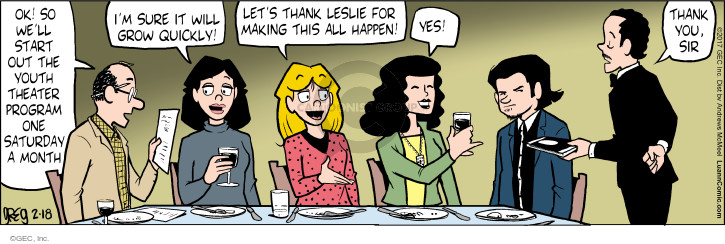 Comic Strip Greg Evans  Luann 2017-02-18 start