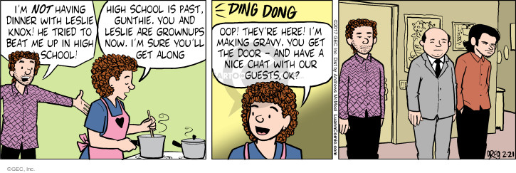 Comic Strip Greg Evans  Luann 2017-02-21 ding