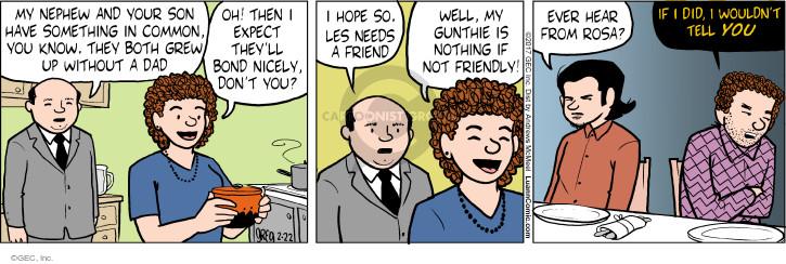 Cartoonist Greg Evans  Luann 2017-02-22 Rosa