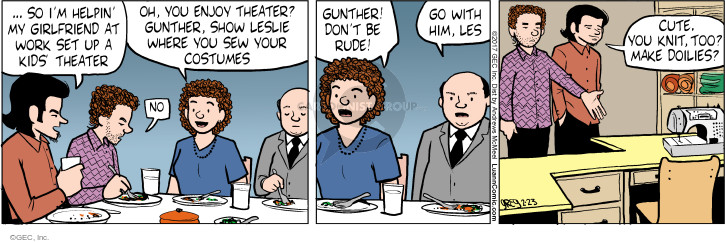 Comic Strip Greg Evans  Luann 2017-02-23 set up