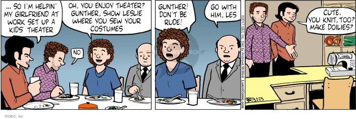 Comic Strip Greg Evans  Luann 2017-02-23 Gunther