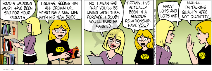 Comic Strip Greg Evans  Luann 2017-02-28 wedding