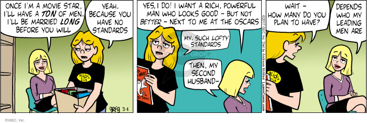 Comic Strip Greg Evans  Luann 2017-03-01 movie