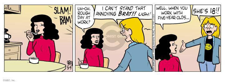 Comic Strip Greg Evans  Luann 2017-03-09 old