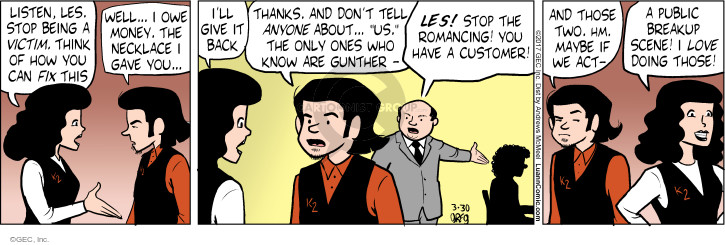 Comic Strip Greg Evans  Luann 2017-03-30 necklace
