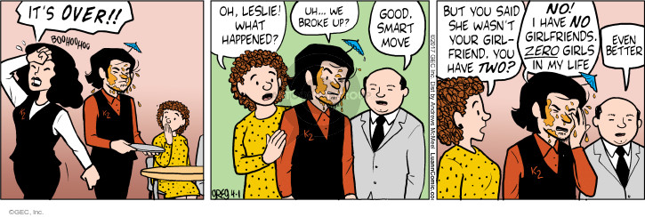 Cartoonist Greg Evans  Luann 2017-04-01 broke